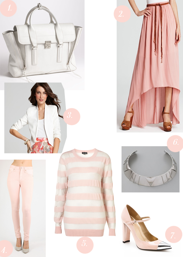 White and Pastel Pink
