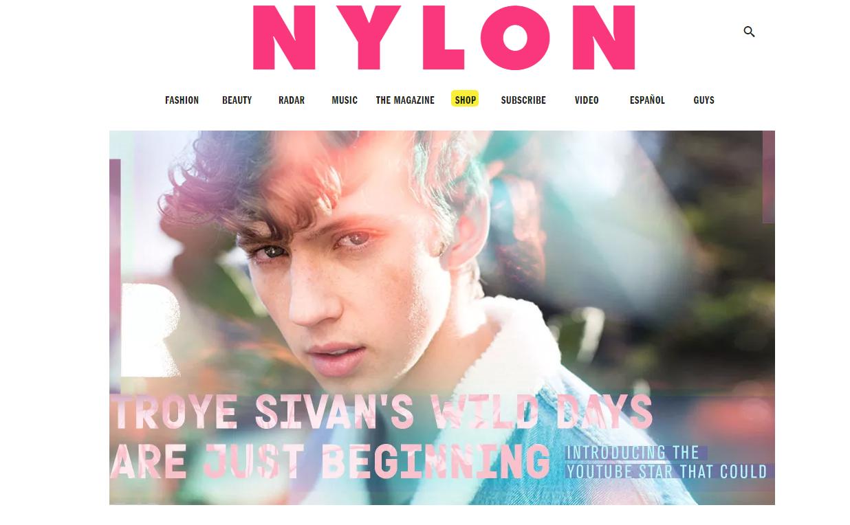 NYLON + Troye Sivan